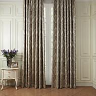 To paneler Window Treatment Rokoko Polyester Materiale gardiner gardiner Hjem Dekor For Vindu