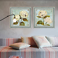 cheap Framed Arts-Floral/Botanical Framed Canvas / Framed Set Wall Art,PVC Grey No Mat With Frame Wall Art