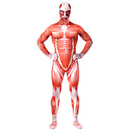 Inspiriert von Attack on Titan Bertolt Huber Anime Cosplay Kostüme Cosplay Kostüme Druck / Patchwork Gymnastikanzug / Einteiler Für Herrn / Damen