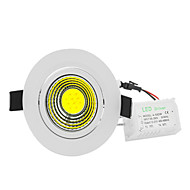 billige Innfelte LED-lys-ywxlight® 5w led spotlight cob 500-700 lm varm hvit kald hvit dekorative