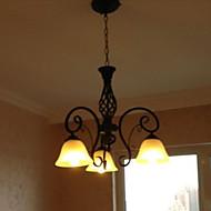 billige Takbelysning og vifter-BriLight Candle-stil Lysekroner Omgivelseslys Malte Finishes Metall Glass Stearinlys Stil 110-120V / 220-240V Pære ikke Inkludert / E26 / E27