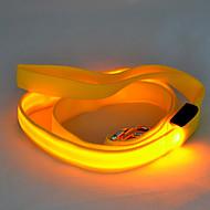 כלבים רצועות נורות LED / בטיחות מוצק Red / לבן / ירוק / כחול / ורוד / צהוב / כתום ניילון