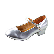 Dame Barn Moderne Ballett Treningssko Kunstlær Høye hæler Tykk hæl Sølv Sølv 4 cm Kan ikke spesialtilpasses