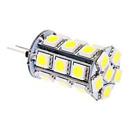 billige Kornpærer med LED-370lm G4 LED-kornpærer T 24 LED perler SMD 5050 Kjølig hvit 12V