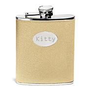 Χαμηλού Κόστους Προσαρμοσμένη Drinkware-ημέρα δώρο χρυσό βουτιά εξατομικευμένες πατέρα 8 ουγκιά pu δέρμα φιάλη