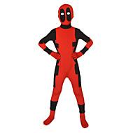 Ternos Zentai Ninja Super-herói morto Fantasia Zentai Fantasias de Cosplay Vermelho Estampado Collant/Pijama Macacão Fantasia Zentai