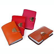 お買い得  コインケース&ホルダー-女性用 バッグ レザー カード&IDホルダー 二つ折り のために カジュアル オールシーズン ブラック オレンジ イエロー レッド ブルー