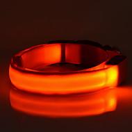 Kat Hund Krave LED Lys Justerbare / Uttrekkbar Ensfarget Nylon Rød Grønn Blå Rosa Regnbue