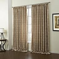 billige Gardiner ogdraperinger-rokokko to paneler paisley sjokolade soverom polyester panelgardiner gardiner