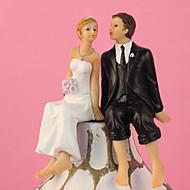 Decorações de Bolo Tema Clássico Casal Clássico Resina Casamento Com Caixa de Ofertas