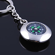 cheap Office Supply & Decorations-Personalized Engraved Gift Round Compass Shaped Keychain