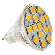 billige Spotlys med LED-2W 180-220lm GU5.3(MR16) LED-spotpærer MR11 15 LED perler SMD 5050 Varm hvit 12V