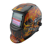 cheap Machinery & Tools-Welding Helmet 7-12 Flames Skull Head Metal Processing Machinery Protector