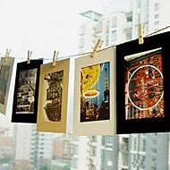 6 tommers 10 pack natur mønster hengende papir fotoramme (svart, hvit, brun)