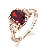 Vallomás gyűrűk Kristály utánzat Diamond Arannyal bevont utánzat Diamond Születési kövek Piros Ékszerek Esküvő Parti Hétköznapi