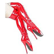 billige Skosalg-7in Heel Høyde kvinner støvler over kneet Boots Sexy Sko, Ballet Boots