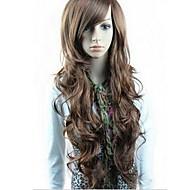 Kobieta Peruki syntetyczne Długo Black Light Brown Dark Brown Część Boczna Z grzywką Karnawałowa Wig Halloween Wig Costume Peruki
