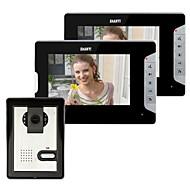 billige Dørtelefonssystem med video-Med ledning Fotografert 7 tommers Håndfri En til to video dørtelefon / CMOS / 1/3 tomme / 420 TV-kanaler / #