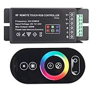 billige Lampesokler og kontakter-TRC02 RF Remote Touch RGB Controller for RGB LED-Svart (433,92 MHz 288W DC 12 ~ 24V)