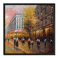 風景ペアストリート額の油絵