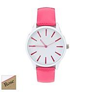 billige Personaliserte klokker-Personlig gave kvinner Hvit Dial Candy Color PU Band Analog Inngravert Watch (assorterte farger)