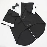 Psy Kostium Smoking Ubrania dla psów Solidne kolory Czarny Szary Bawełna Kostium Na Husky Labrador Buldog Wiosna i jesień Lato Męskie Cosplay Ślub