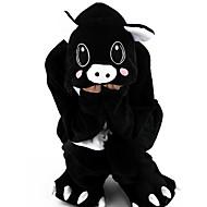 Kigurumi Pyjamas Grisebasse Heldragtskostumer Pyjamas Kostume Flanel Fleece Sort Cosplay Til Barn Nattøj Med Dyr Tegneserie Halloween