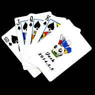Χαμηλού Κόστους Προσαρμοσμένη Κάρτες-Εξατομικευμένη δώρων Λευκό Ποδόσφαιρο Pattern Τραπουλόχαρτο
