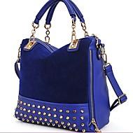 baratos Bolsas Tote-Estilo coreano Rebite Cadeia Bolsa de Erlen Mulheres / um ombro / Crossbody Bag (azul marinho)