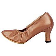 billige Moderne sko-Dame Moderne sko / Ballett Fuskelær Høye hæler Kustomisert hæl Kan spesialtilpasses Dansesko Sølv / Bronse