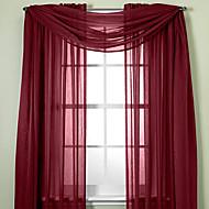 billige Gjennomsiktige gardiner-Gardiner Skygge Stue Ensfarget Polyester