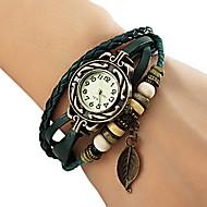 Kadın's Moda Saat Bilezik Saat Quartz PU Bant Yapraklar Bohem Siyah Kırmızı Turuncu Kahverengi Yeşil