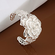 cheap Jewelry Clearance-Vilin Women's Cut Out Flower Silver Bracelet Classical Feminine Style