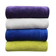 お買い得  ブランケット&毛布-コーラルフリース, 純色 ソリッド ポリエステル100% 毛布
