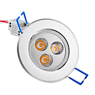 baratos Luzes LED de Encaixe-250lm Lâmpada de Embutir / Lâmpada de Teto Encaixe Embutido 3 Contas LED LED de Alta Potência Branco Quente 85-265V