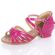 baratos Sapatilhas de Dança-Mulheres Sapatos de Dança Latina / Dança de Salão Couro Ecológico Sandália Salto Baixo Não Personalizável Sapatos de Dança Prateado / Dourado / Fúcsia / Crianças / Camurça