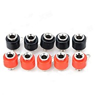 Plastic + Iron 4mm Banana Sockets - Rood + Zwart (10 PCS)