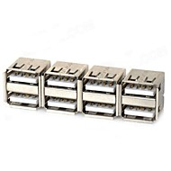 Dual USB Female Adapter - Silver (4 db)