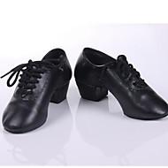 billige Men's Dance Shoes-Herre Moderne sko / Ballett / Treningssko Kunstlær Høye hæler Tykk hæl Kan ikke spesialtilpasses Dansesko Svart / Svart