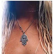Žene Ogrlice s privjeskom dame Europska Simple Style Moda Pink Hamsa Ogrlice Jewelry 1pc Za Party Dnevno Kauzalni