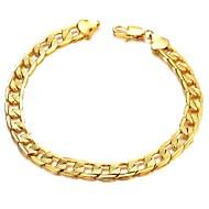Fashion Classic forkobring Mænd 18 K Guld Armbånd