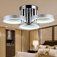 Chandelier LED Modern Silver 3 Lights