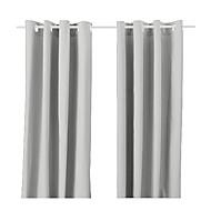 billige Gardiner-ett panel grommet topp moderne klassiker solid energisparing gardin