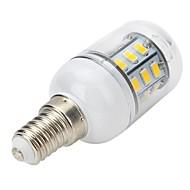 E14 LED-spotpærer LED-globepærer LED-kornpærer T 27 leds SMD 5730 Varm hvit 300-400lm 3000-3500K AC 220-240V