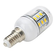 billige Kornpærer med LED-300-400 lm E14 LED-spotpærer LED-kornpærer LED-globepærer T 27 leds SMD 5730 Varm hvit AC 220-240V