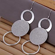 círculo brincos de prata placa de mulheres vivas