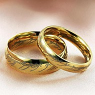 Žene Titanium Steel Prstenje za parove - Moda Zlato Prsten Za Vjenčanje Party Dnevno Kauzalni