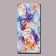 billiga Abstrakta målningar-Hang målad oljemålning HANDMÅLAD - Blommig / Botanisk Samtida Duk