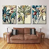 preiswerte Kundenspezifische-personalisierte Leinwanddruck Leinwand Kunst Abstrakt Blume 28x40cm 40x60cm Gespannter Galerie art Satz von 3