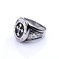 személyre szabott ajándékot divatos rozsdamentes acél ékszerek vésett férfi gyűrű